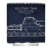 Vintage Military Tank Patent From 1945 Shower Curtain