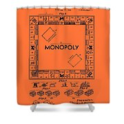 Vintage Monopoly Game Patent Shower Curtain