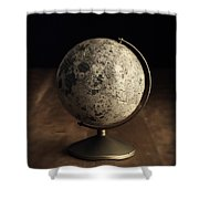 Vintage Moon Globe Shower Curtain