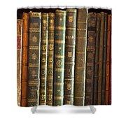 Vintage Music Books On A Shelf Shower Curtain