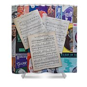 Vintage Music Sheets No.2 Shower Curtain