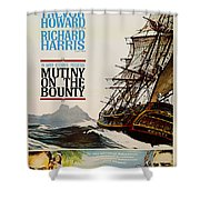 Vintage Mutiny On The Bounty Movie Poster 1962 Shower Curtain
