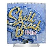 Vintage Neon- Shell Beach Inn Shower Curtain