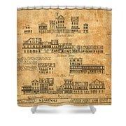 Vintage New Orleans Shower Curtain