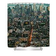 Vintage New York Skyline Shower Curtain