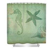 Vintage Ocean Animals Shower Curtain