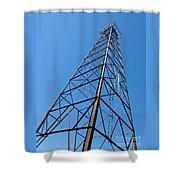 Vintage Oil Derrick Shower Curtain
