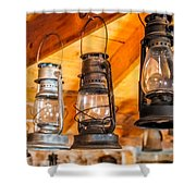 Vintage Oil Lanterns Shower Curtain by Paul Freidlund