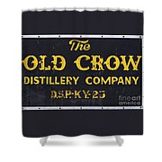 Vintage Old Crow - D008693 Shower Curtain