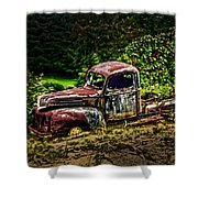 Vintage Old Forty's Pickup Shower Curtain