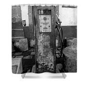 Vintage Old Gas Pump Shower Curtain