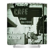 Vintage Palace Cafe Shower Curtain