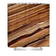 Vintage Papers Shower Curtain