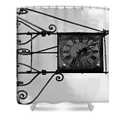Vintage Paris Clock 2 Shower Curtain