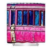 Vintage Passenger Carriage Shower Curtain