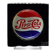 Vintage Pepsi Bottle Cap Shower Curtain