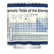 Vintage Periodic Table Of The Elements Shower Curtain by Dan Sproul