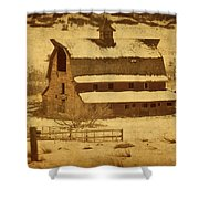 Vintage Perry Park Barn Shower Curtain