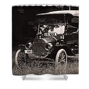 Vintage Photo Of Rural Mail Carrier - 1914 Shower Curtain