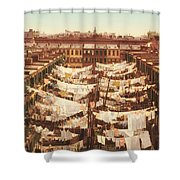 Vintage Photo Of Washing Day In New York City 1900 Shower Curtain