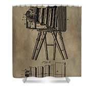 Vintage Photographic Camera Patent Shower Curtain