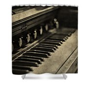 Vintage Piano Shower Curtain