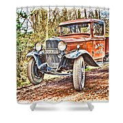 Vintage Pickup Truck Shower Curtain