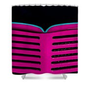 Vintage Pink Grille Shower Curtain