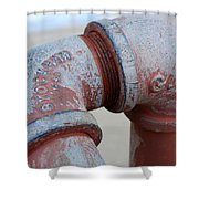 Vintage Pipe Recycled  Shower Curtain