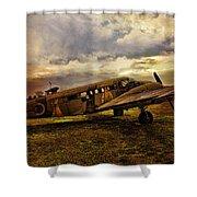 Vintage Plane Shower Curtain