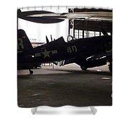 Vintage Planes Silhouette Shower Curtain