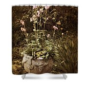 Vintage Planter Shower Curtain