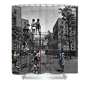 Vintage Playground Shower Curtain