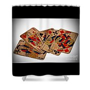 Vintage Playing Cards Art Prints Shower Curtain