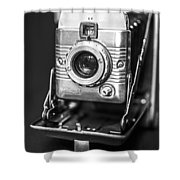 Vintage Polaroid Land Camera Model 80a Shower Curtain