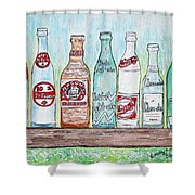 Vintage Pop Bottles Shower Curtain
