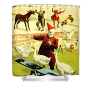 Vintage Poster - Circus - Barnum Bailey Geese Shower Curtain