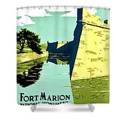 Vintage Poster - Fort Marion Shower Curtain