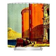 Vintage Poster - Napoli Shower Curtain