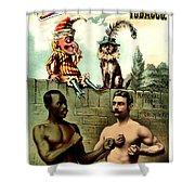 Vintage Poster - Plug Tobacco Shower Curtain