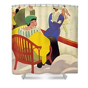 Vintage Poster 1936 Shower Curtain