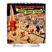 Vintage Poster - Circus - Barnum Bailey Water Shower Curtain