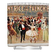Vintage Poster Fanny Rice At The French Ball Shower Curtain