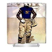 Vintage Poster - Naval Academy Midshipman Shower Curtain