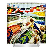 Vintage Poster - Sports - Indy 500 Shower Curtain