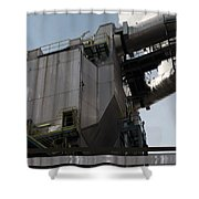 Vintage Power Plant  Part View Industrial Photography Shower Curtain