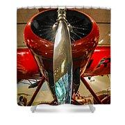 Vintage Propeller Airplane Shower Curtain