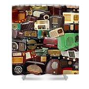 Vintage Radios Shower Curtain