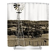 Vintage Ranch Windmill Shower Curtain