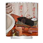 Vintage Reading Glasses Still Life Art Prints Shower Curtain